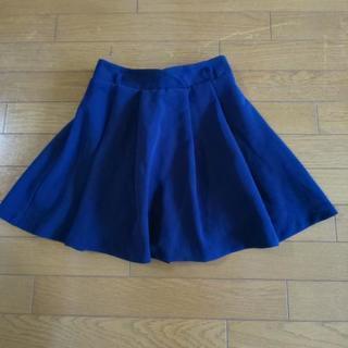 めちゃ美品  濃紺のイングの見た目スカート実はキュロットスカート