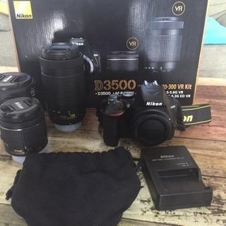 Nikon D3500 レンズ3本セット♪美品☆