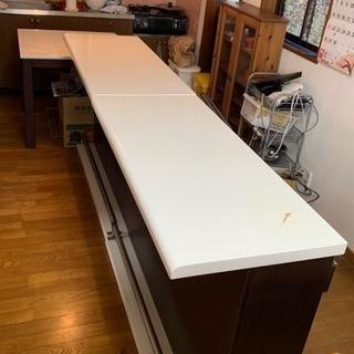 カウンターテーブル×2  テーブル1つのセット 傷あり無料