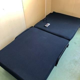 値下げ! 動作確認済 電動二つ折りシングルベッド メーカー不明