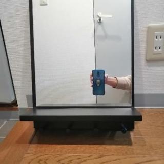 壁掛けミラー(鏡) フック付き