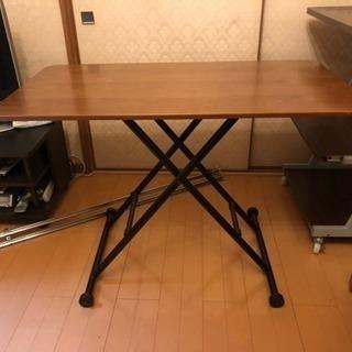 折りたたみ式 高さ調節可能  テーブル 差し上げます