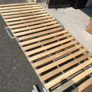 折りベッド スノコベッド シングルサイズ