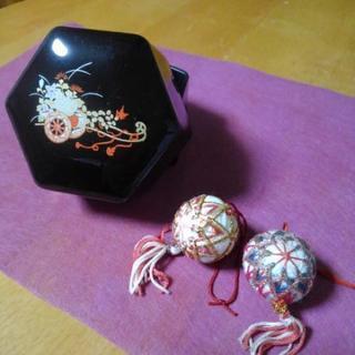 京都 六角形の小箱 飾り付き