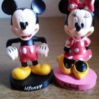 ミッキー&ミニー首振り人形