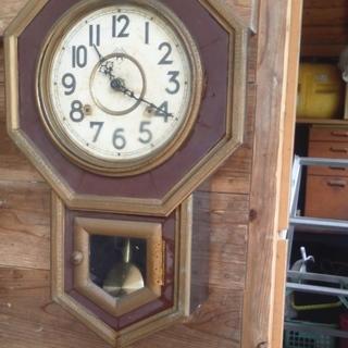 昭和の柱時計 リメイク オブジェ作成用(ジャンク)