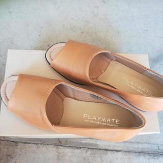 婦人靴オープンシューズ 23センチ 未使用