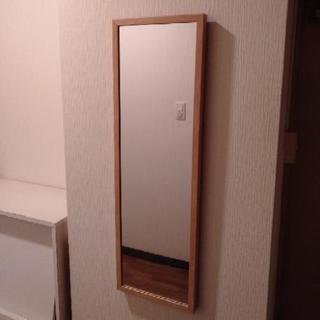 ☆値下げ☆【姿見】壁掛け鏡、ミラー(ライトベージュ)