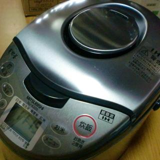 《閲覧ありがとうございましたお渡し先が決まりました》三菱 NJ-KS06-T IHジャー炊飯器 スモークブラウン 3.5合炊き (背面一部プラ割れあり)の画像