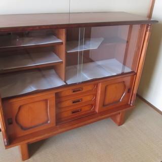 キャビネット 飾棚 食器棚 サイドボード(チーク材)