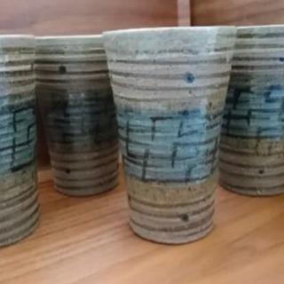 焼き物 グラス コップ 4個セット