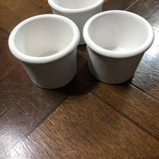 陶器製 ホワイト  キャンドル カップ 3個 キャンドル2個 引...