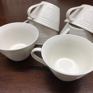 白いティーカップ6個(ソーサー無)