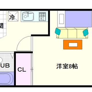 【エスポワール大黒】3号タイプ!1Kタイプ!広めの居室がいいね☆