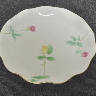 香蘭社 プリンセス ローズ プレート 中皿 大皿 皿 バラ 薔薇 花柄
