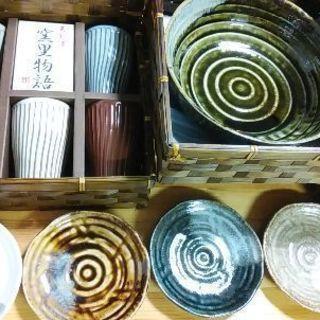 美濃焼タンブラー、大鉢、小皿11点セット 豪華木箱付き 未使用品