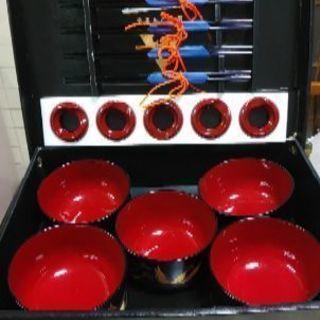 やまもと寛斎 汁椀、箸、箸置き各5、菓子器1 16点セット 未使用品