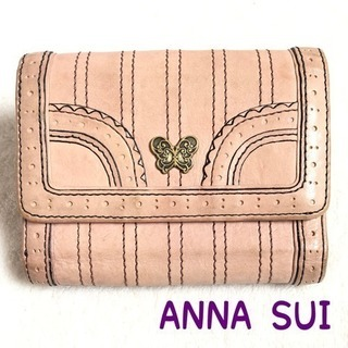 ANNA SUI アナスイ 財布 二つ折りがま口 正規品 ピンク...