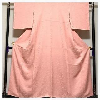 美品 未使用 身丈157 裄63 極上 膨れ地紋 葉模様 正絹 ...
