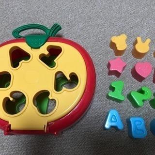 【中古】りんごの型はめ おもちゃ