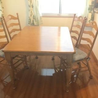 4/14迄値下げ!!アメリカで購入 ダイニングテーブル  椅子6脚