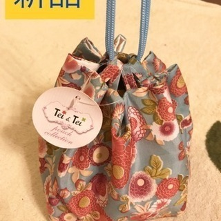 ★新品★浴衣にぴったり巾着バッグ(水色)
