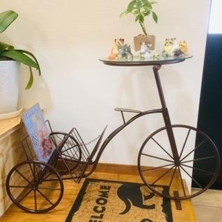 自転車の置物 ビンテージ ガーデニング