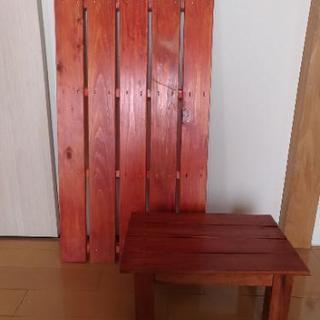 【無料にしました】すのこと踏み台のセット 木製 スノコ ミニミニ...
