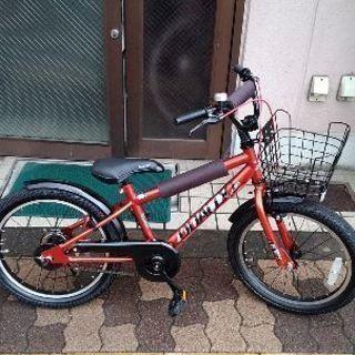 美品☆DUALLYI 18吋 BMXスタイルキッズバイク(レッド)
