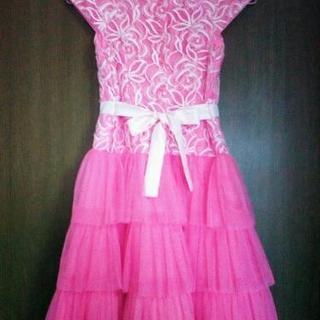 ☆ローズピンクドレス☆未使用品☆140cmくらい☆結婚式 発表会