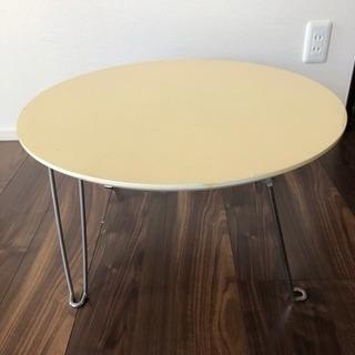 丸テーブルです。ニトリ ベージュ