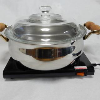 ホットプレート付き鍋
