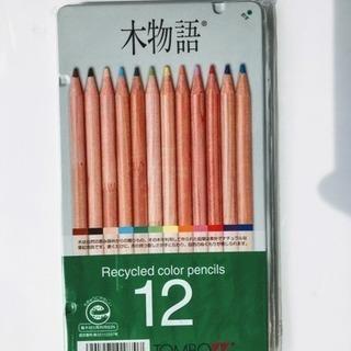 トンボ鉛筆 木物語 色鉛筆12色