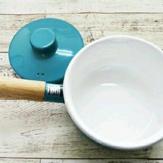 新品 廃盤色 富士ホーロー 蓋付き ミルクパン ライトブルー 水色  IH ガス ラジエント 対応 - 葛飾区