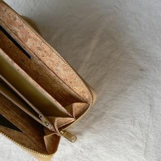 【新品未使用】インスタ映え 天然コルク 財布 お札 カード 小銭入れ付き 003 - 服/ファッション