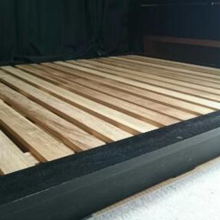 ダブルベッド用 ベッドフレーム 木製 山形発 自社陸送あり