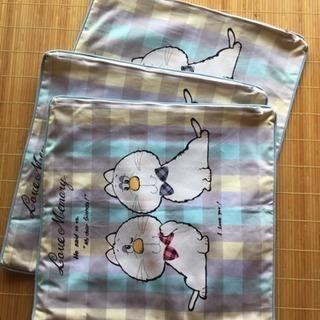 新品 猫の座布団カバー 3枚セット