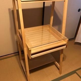 木製パソコンラック