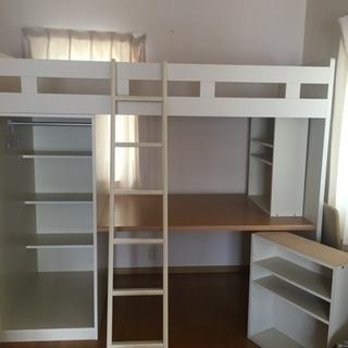 ベッド 机 整理棚