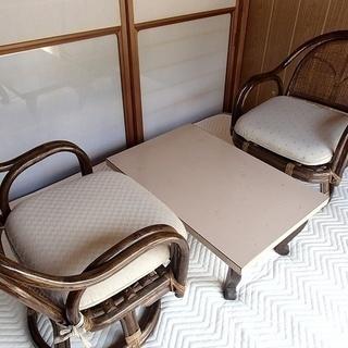 小さめサイズ◆座椅子2点+ローテーブルセット◆臼杵市内取りに来れ...