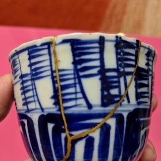 陶磁器の漆による金継ぎやってます
