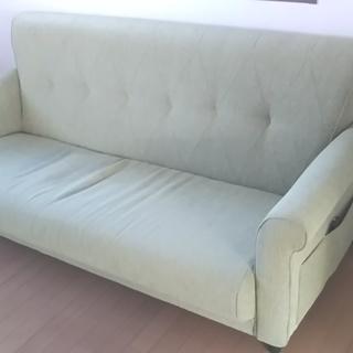 3人掛け布張りソファー