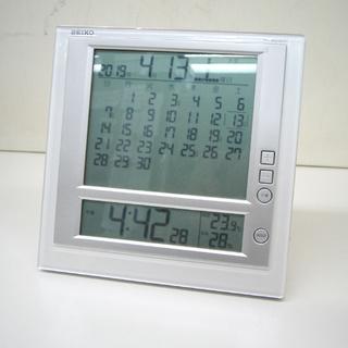 セイコー デジタル 置時計 掛時計 カレンダー付 SQ442W 六...