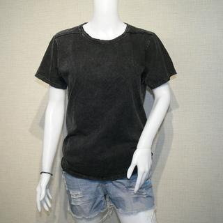 【価格交渉アリ】カットオフ 貼り合わせ縫製 ストーンウォッシュ加工 UネックTシャツの画像