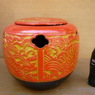 常滑(とこなめ)の塗り火鉢・金魚やメダカ入れ