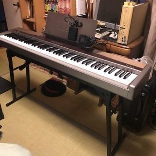電子ピアノスタンド ジャンク電子ピアノ付き