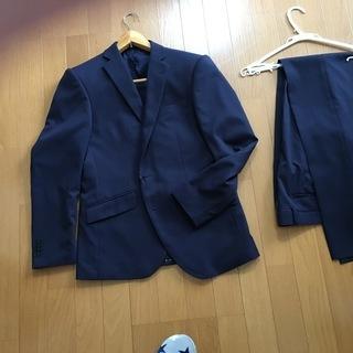 値下げ:新品スーツ(紺色)