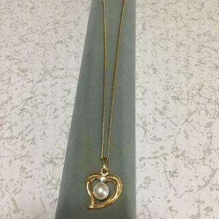 ハート真珠ネックレス  中古品