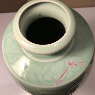 龍泉窯 「梅青釉」 青磁・天竜寺青磁 大花瓶 壺