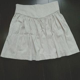 美品 LIMITLESS LUXURY ミニスカート 刺繍 ベージュ